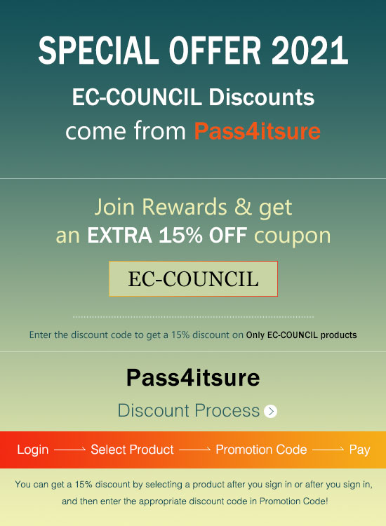 Pass4itsure ECCouncil exam discount code 2021